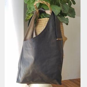 Gerard Darel Italian Leather Bow Tie Hobo Tote Bag